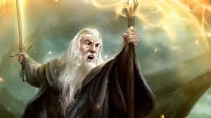 Gandalf Light Staff Full Hd Wallpaper Lord Of The Rings Art Gandalf Battle Staff
