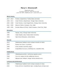 Easy Resume Template Interesting Easy Resume Samples Sample Basic Resume Template In Different Format