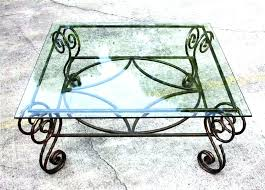 iron and glass coffee tables wrought iron coffee table glass coffee tables mesmerizing rectangular glass top