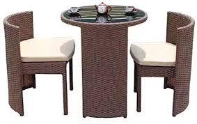 3 pieces outdoor wicker patio set