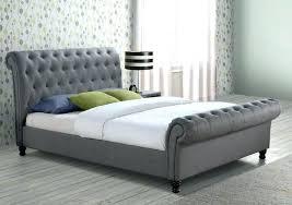 Light Grey Tufted Bed Light Grey Headboards Bed Frame Light Grey ...