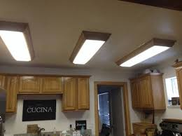 replace ugly fluorescent ceiling