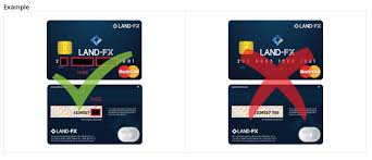also black out the three digit cvv number on the back of your credit debit card image