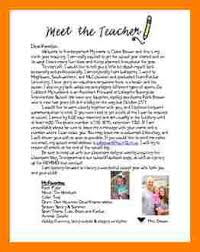 5 Introduction Letter To Parents From New Teacher