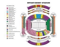 Alabama Football Stadium Seating Chart Alabama Football