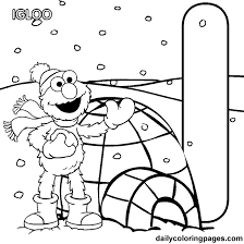 Small Picture Coloring Activity Pages I is for Igloo Elmo Coloring Page
