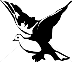 doves clipart black and white. Perfect Black Winged Black And White Dove Clipart Inside Doves And