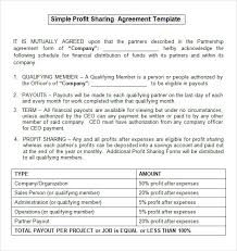 sample profit sharing agreement