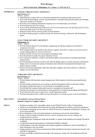 Cyber Security Architect Resume Samples Velvet Jobs