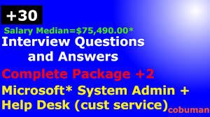 Interview Questions For Help Desk Top System Administrator And Help Desk Interview Questions And Answers Complete Package