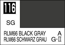 Mr Color Paint Rlm66 Black Gray 10ml C116