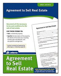 Home Purchase Agreement Form Free Beauteous Amazon Adams Agreement To Sell Real Estate Forms And
