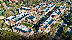 stanford graduate school of business. stanford business school aerial shot graduate of