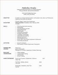 Dentist Resume Sample Pdf New Resume Dental Assistant Resume Sample
