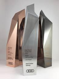 Bespoke Award Design Metal Sculptural Award Bespoke Design Trophy With