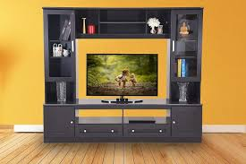 this large size entertainment unit comes in a beautiful dark finish and it gives you ample space to all the items that you need in the entertainment