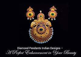 diamond pendants indian designs perfect enhancement in your beauty