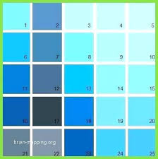 Teal Color Chart Jamesdelles Com