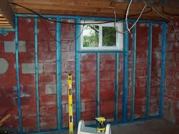 our basement renovation smurftastic view larger how to frame basement windows when roughing in around