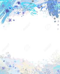 Empty Invitation Card Design Winter Banner Background With Blue Snowflake Design Empty Place