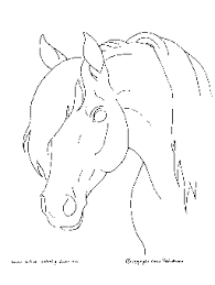 horse coloring pages on free horse coloring pages horse head