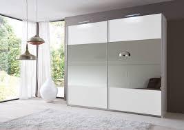 slumberhaus eleganz german made modern white mirror sliding door wardrobe