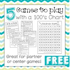 100 Day Activities 5 Free Games To Play With A 100s Chart