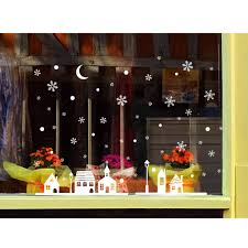 Yunso Schneeflocken Aufkleber Weihnachtsdeko