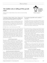 Pdf The Toddler Who Is Falling Off The Growth Chart