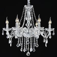elegant crystal chandelier 6 ceiling light lamp pendant modern fixture