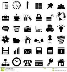 Business And Office Icons Set Stock Vector Illustration Of Data