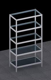 more views free standing octanorm modular glass shelf rack