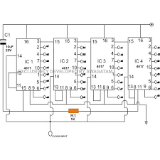 build a moving message display circuit using discrete components scrolling message display image · scrolling message display circuit diagram image