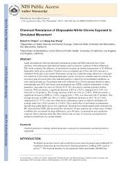 Pdf Chemical Resistance Of Disposable Nitrile Gloves