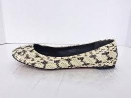 8.5 M VERA WANG Leather Ivory Snake Ballet Flats | Etsy