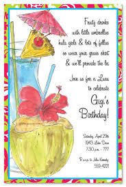 Classy Luau Sips Party Invitations Myexpression 19825