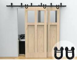 rolling sliding horseshoe bypass barn door hardware kit pantry closet doors home depot hanger 5 track