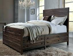 rustic platform beds with storage. Solid Wood Platform Bed King Beds With Storage Rustic B