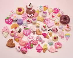 25 50 or 100 sweet treats diy phone decoden set kit kawaii flatback