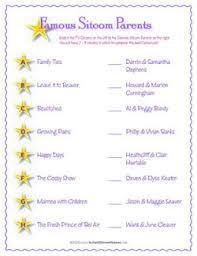 Famous Tv Moms Baby Shower Game  22 Fun U0026 Free Baby Shower Games Famous Mothers Baby Shower Game