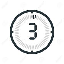 The 3 Minutes Icon Isolated On White Background Clock And Watch