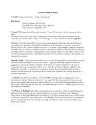 cover letter literary analysis essay format literary analysis cover letter analysis essay template example exploratory of th instructions mla format literary analysis critical xliterary