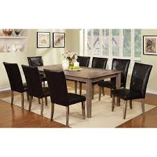 get ations furniture of america yorinth wood dining table wire brushed dark oak
