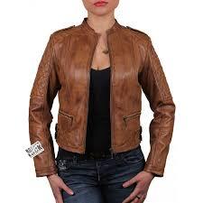 las brown leather biker jacket madisson