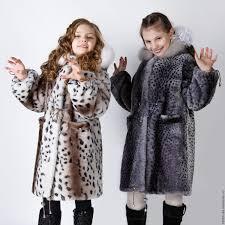 children s natural fur coat mouton kids fur coat