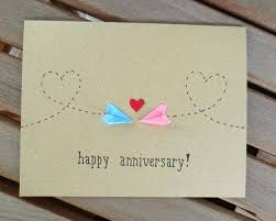 homemade anniversary cards cute idea from for wedding paper definitely going to give this a go homemade anniversary cards