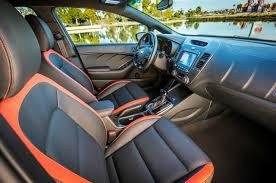 kia forte orange color pack kia forte orange rear seats