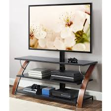 sauder studio black edge panel tv stand with mount for tvs up to 50 com