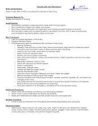 Cna Job Description Resume Drupaldance Com