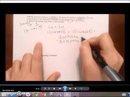 binding energy and mass defect example